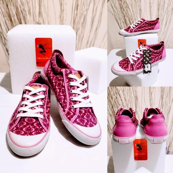 Coach Shoes - Coach Signature Multi-Berry Sneakers size 8.5💋